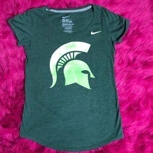 NIKE Michigan State Velvet Logo t shirt Sz M